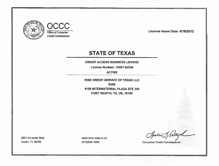Texas CAB license